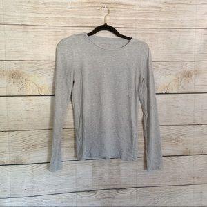 Everlane Gray Long Sleeve Top